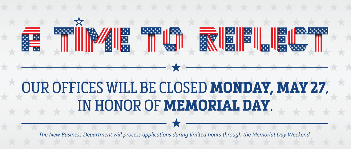 Ritter is closed for Memorial Day!