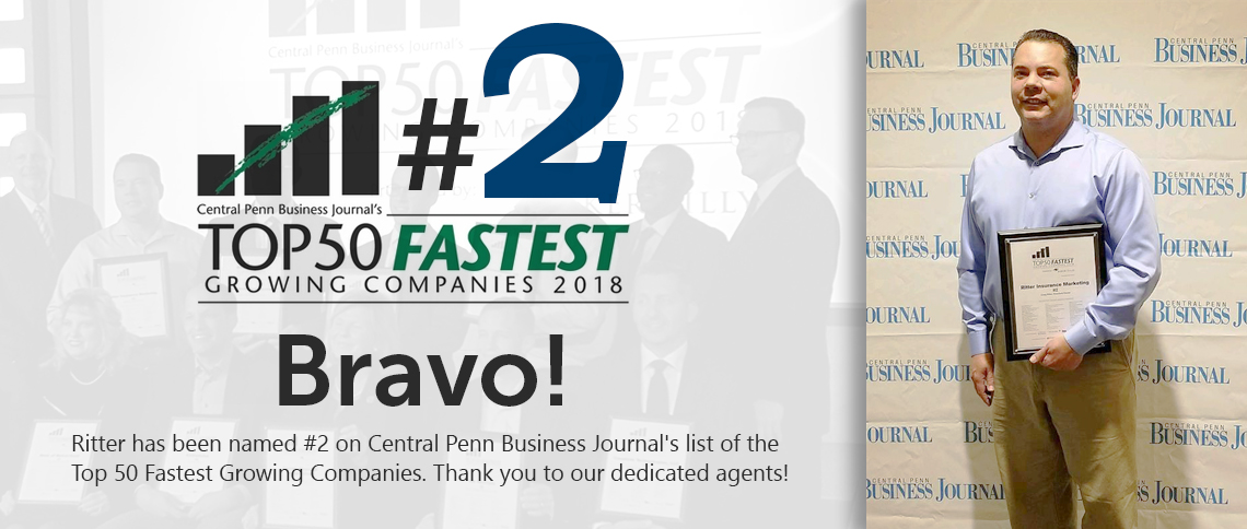 Ritter is #2 on Top 50 Fastest Growing Companies!